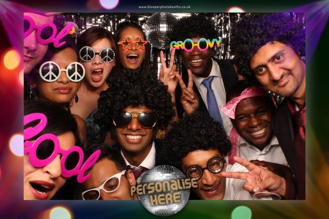 disco themed photo booth scene by Blooper Photobooths 8