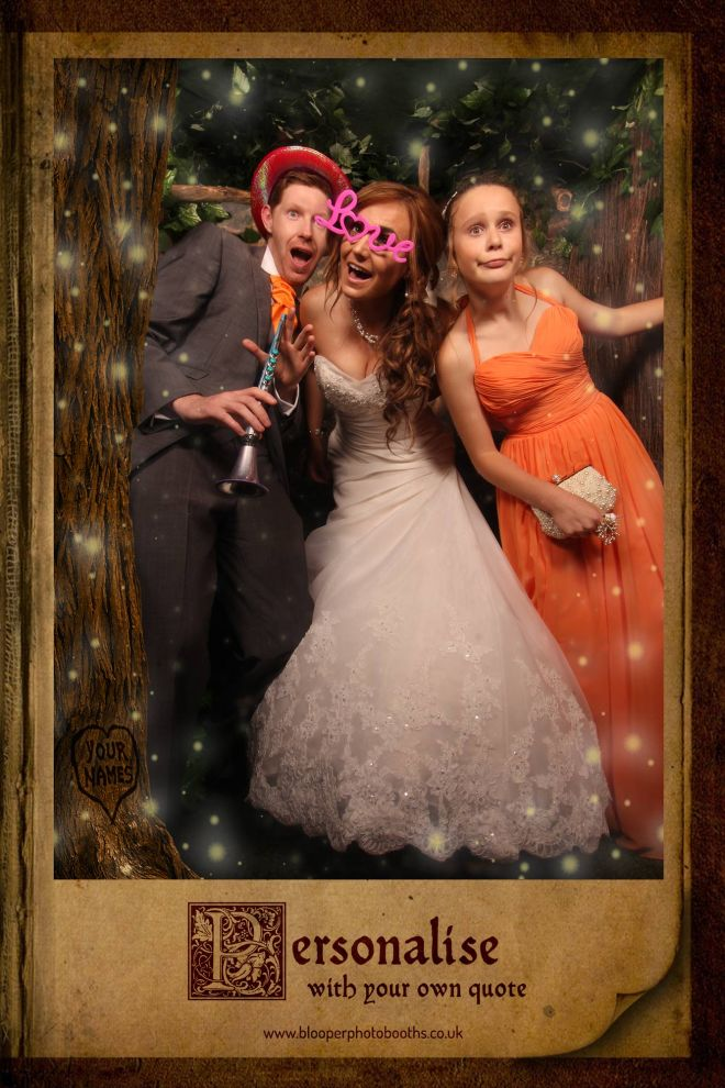 enchanted forest themed photo booth scene by Blooper Photobooths 1