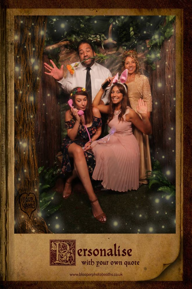 enchanted forest themed photo booth scene by Blooper Photobooths 2