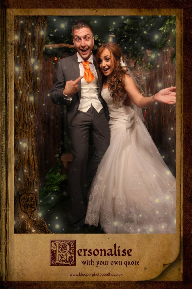 enchanted forest themed photo booth scene by Blooper Photobooths 4