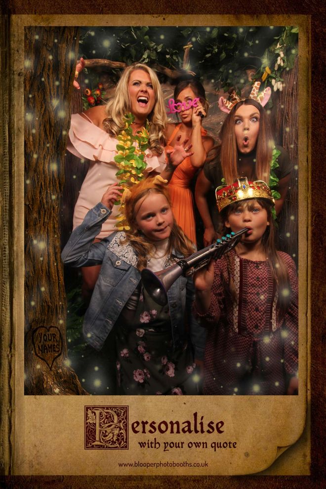 enchanted forest themed photo booth scene by Blooper Photobooths 5