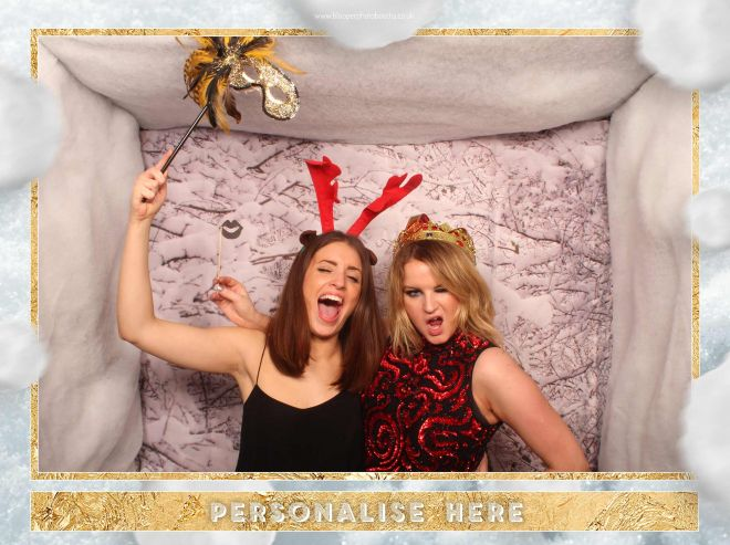 let it snow icy frozen themed photo booth scene by Blooper Photobooths 5