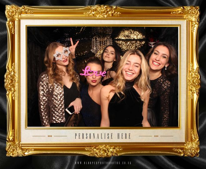 masquerade ball themed photo booth scene by Blooper Photobooths 5