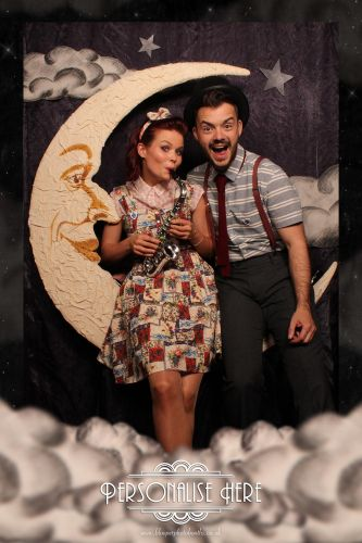 Paper Moon photo booth background scenery and graphics