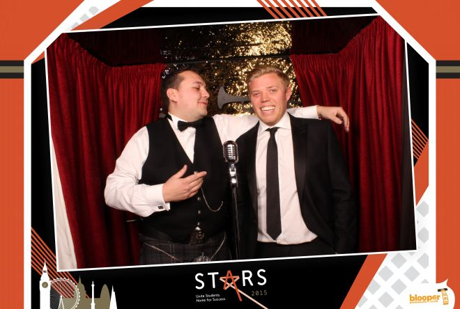 Comedian Rob Beckett in a personalised Red Carpet photo booth for the Unite Students Stars Awards