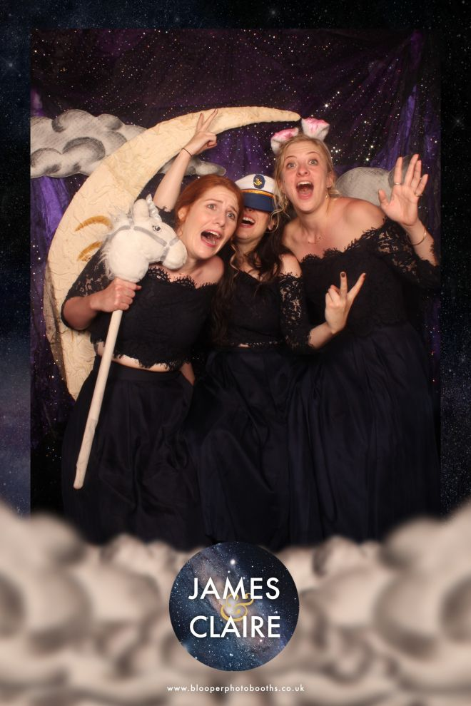 Personalised space themed wedding graphics to match our Paper Moon themed photo booth scenery and artwork
