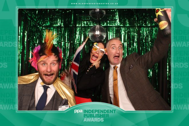 A green version of our Disco themed photo booth background scenery designed for the PPA Independent Publisher Awards