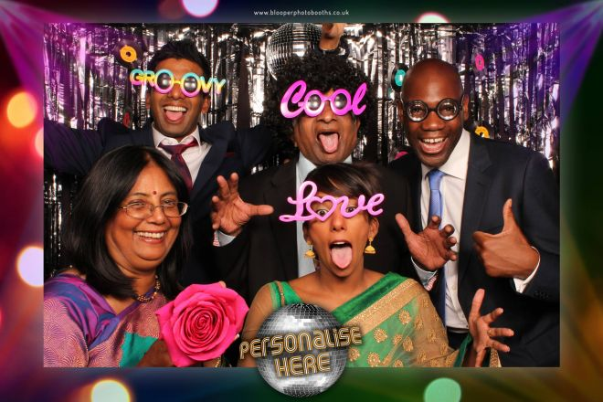 disco themed photo booth scene by Blooper Photobooths 5