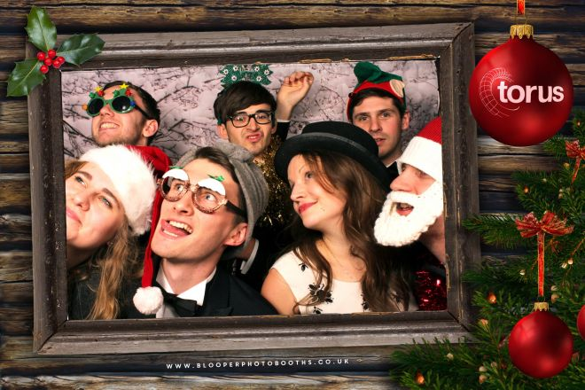Personalised log cabin digital graphics with our icy and snowy photo booth backdrop