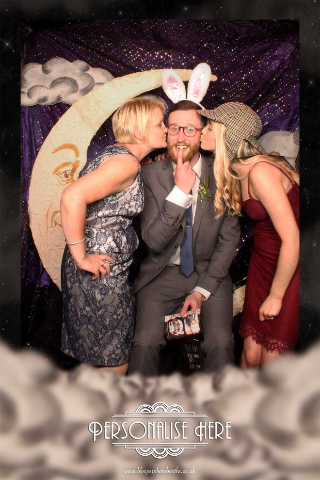 Silly fun in the photo booth and Paper Moon scenery