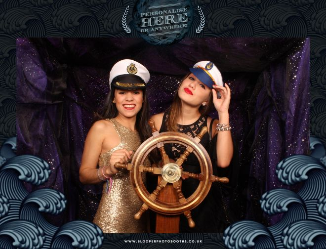 Sailors hats help set the scene in the sea themed photo booth