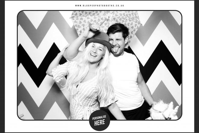 High contrast black and white beauty lit photos with the Chevron background and Spotlight photo booth