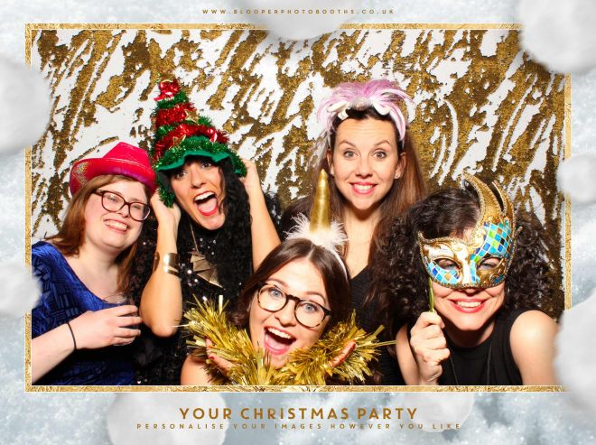 Happy faces in the photo booth using the white and gold mermaid sequin backdrop